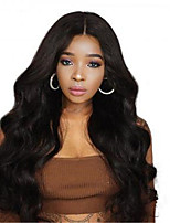 cheap -Synthetic Wig Wavy Middle Part Wig Very Long Natural Black Synthetic Hair Women's Fashionable Design Middle Part Black