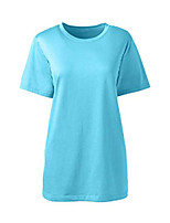cheap -women s ss relaxed supima crew neck t shirt chilled blue palms regular medium