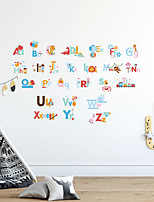 cheap -26 English Letters Animal Print DIY Wall Stickers Decorative Wall Stickers, PVC Home Decoration Wall Decal Wall Decoration / Removable For Early Childhood Education