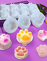cheap -Lovely Dog Cat Paw Fondant Sugarcraft Cake Mold Chocolate Baking Mould Pudding Cookie Soap Molds