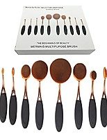 cheap -beautykate foundation oval brushes makeup 10 pcs concealer powder toothbrush brush set, rose golden (rose gold black) with box