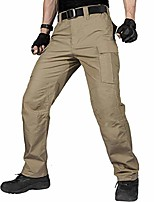 cheap -men's water resistant pants relaxed fit tactical combat army cargo with multi pocket (brown 42w/32l)