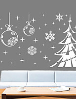cheap -Christmas Decorations / Snow Christmas Tree Wall Stickers Holiday Wall Stickers Decorative Wall Stickers PVC Home Decoration Wall Decal Window Decoration 1pc