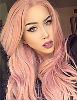cheap -Synthetic Wig Body Wave Asymmetrical Wig Very Long Pink Synthetic Hair Women's Party Exquisite Romantic Pink