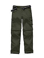 cheap -kid girl's hiking cargo pants, outdoor quick dry zip off lightweight camping convertible pant (girl-khaki-new, m (10-12 years))