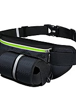 cheap -fanny pack  waist pack with water bottle holder,waterproof running belt for men women,fits iphone 8plus galaxy s8 note 8,reflective hydration belt for running hiking travelling-black fanny bag