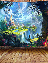 cheap -Wall Tapestry Art Decor Blanket Curtain Picnic Tablecloth Hanging Home Bedroom Living Room Dorm Decoration Polyester Tree Castle Wonderland Beauty View