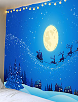 cheap -Christmas Weihnachten Santa Claus Wall Tapestry Art Decor Blanket Curtain Picnic Tablecloth Hanging Home Bedroom Living Room Dorm Decoration Snow Gift Moon Elk Polyester