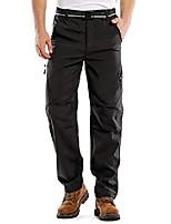 cheap -men's outdoor waterproof windproof fleece slim cargo snow ski hiking pants,6070,black,34