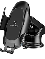 cheap -Wireless Car Charger10W7.5W5W Fast Charging Auto-Clamping MountWindshield  Air Vent Phone Holder Compatible For iPhone11 ProMaxXsMAXXSXRX8 8 Samsung S10S9S8 Includes Suction Cup And Air Outlet Holder