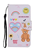 cheap -Case For Samsung Galaxy S20 S20 Plus S20 Ultra Wallet Card Holder with Stand Full Body Cases Smiley Bear PU Leather TPU for Galaxy A21 A11 A01 A51 A71 A41 A31 A21S