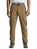 cheap -men's outdoor hiking pants quick dy lightweight running gym jogger pants(khaki, us xxl)