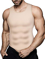 cheap -mens slimming body shaper vest compression shirt abs abdomen shapewear workout tank top undershirt (large, beige tops)