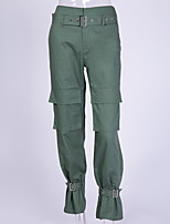 cheap -Women's Basic Daily Tactical Cargo Pants Solid Colored Breathable Black Green Beige S M L