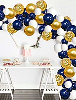 cheap -navy blue balloons garland kit, 120 pcs navy and gold confetti white balloons arch with 16ft tape strip & dot glue for party wedding birthday diy decoration
