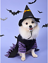 cheap -Dog Halloween Costumes Dress Pumpkin Party Cosplay Party Halloween Winter Dog Clothes Breathable Purple Costume Polyster M L XL