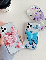 cheap -Case For Apple iPhone 11 Shockproof / Dustproof / with Stand Back Cover Butterfly TPU For Case iphone 11 Pro/11 Pro Max/7/8/7P/8P/SE 2020/X/Xs/Xs MAX/XR