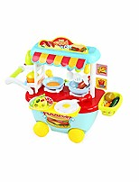 cheap -kitchen games food truck, children's play kitchen cooking plates cutlery educational toys tea set gift with wheel for kids