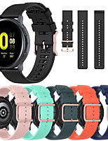 cheap -Sport Silicone Watch Band for Garmin Vivoactive 4 / Venu / Approach S40 / Forerunner 245 Music / 645 Music / Vivomove HR / Vivoactive 3 / Fenix Chronos Replaceable Bracelet Wrist Strap Wristband