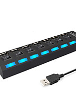 cheap -7 Port USB2.0 HUB Multi USB Splitter Expander Multiple USB Power Adapter USB2.0 Hub with Switch For PC