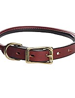 "cheap -me13316 pet standard rolled dog collar, 3/4"" by 16"", chestnut"