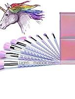 cheap -ammiy unicorn makeup brushes 10pcs with colorful bristles unicorn horn shaped handles fantasy makeup brush set foundation eyeshadow unicorn brush kit with a cute iridescent carrying case