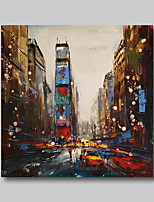 cheap -Oil Painting Hand Painted - Abstract People Comtemporary Modern Stretched Canvas