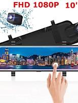 cheap -Auto Dvr Dual Lens Achteruitrijcamera Full-Screen Touching10 Ips Scherm Auto Dvr Drive Recorder Streamen Achteruitkijkspiegel spiegel Dash Camer
