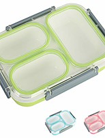 cheap -lunch bento box food storage container leakproof with sealed compartment for woman man work & #40;green 3 compartment& #41;