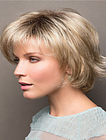 cheap -Synthetic Wig Curly kinky Straight Pixie Cut Wig Short Light Blonde Synthetic Hair Women's Soft Easy to Carry Comfortable Blonde