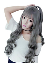 cheap -Synthetic Wig Curly Neat Bang Wig Very Long Grey Synthetic Hair 28 inch Women's Fashionable Design Party Comfortable Gray