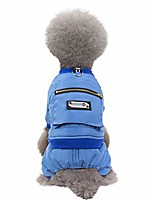 cheap -pet warm clothing for small/medium/large dog,pet cat winter bib pants, solid color autumn&winter dog clothes, dog coat jackets clothes with pockets, doggie cat outerwear snowsuit apparel (s, blue)
