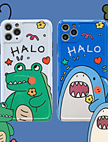 cheap -Cartoon Shark And Crocodile  IMD Case For Apple iPhone 11 Pro Max 8 Plus 7 Plus 6 Plus Max Back Cover