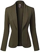 Недорогие -женский пиджак с однотонным принтом, длина до талии, с открытой передней частью [made in usa], оливковый m