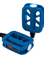 cheap -bicycles urban fun resin bike pedals with reflectors, electric blue