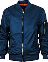cheap -men's ma-1 windbreaker slim fitted bomber flight jacket blue m