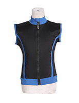 cheap -Figure Skating Fleece Jacket All Ice Skating Top Black Patchwork Spandex High Elasticity Training Skating Wear Warm Patchwork Sleeveless Ice Skating Winter Sports Figure Skating / Kids