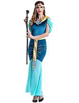 cheap -Goddess Retro Vintage Ancient Greek Vacation Dress Dress Outfits Masquerade Women's Costume Blue Vintage Cosplay Party Halloween Sleeveless / Headwear / Neckwear / Sash / Ribbon / Headwear / Neckwear