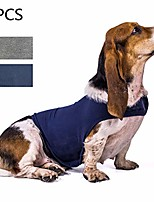 cheap -dog anxiety jacket, 2pack breathable stress relief calming coat dog compression vest calming wrap dog jacket clothing gray and blue xs