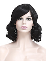 cheap -Synthetic Wig Curly With Bangs Wig Short Black Synthetic Hair Women's Fashionable Design Comfortable Romantic Black