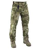 cheap -lightweight men's ripstop pants outdoor military camo cargo trousers for camping hiking (fg camo, l)