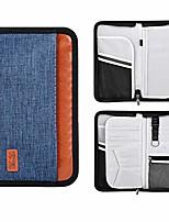 cheap -family travel passport holder portable wallet rfid blocking document tickets organizer with zipper (black)