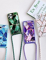 cheap -Case For Apple iPhone 11 Shockproof / Dustproof Back Cover Geometric Pattern / Marble TPU For Case iphone 11 Pro/11 Pro Max/7/8/7P/8P/SE 2020/X/Xs/Xs MAX/XR