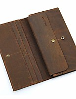 cheap -mens bifold long wallet genuine leather rfid blocking checkbook wallet leather travel passport holder money clip