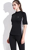 cheap -Body Shaper Sweat Waist Trainer Shirt Shapewear Sports Nylon Polyster Yoga Gym Workout Pilates Stretchy Weight Loss Tummy Fat Burner Hot Sweat For Women