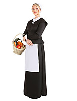 cheap -Maid Costume Dress Cosplay Costume Party Costume Adults' Women's Cosplay Vacation Dress Halloween Halloween Festival / Holiday Polyester Black Women's Easy Carnival Costumes / Hat / Hat