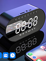 cheap -LITBest JM1  Bluetooth Speaker Portable Outdoor Mirror Alarm Clock Bass Wireless Speakers Subwoofer Music FM Home TF Card AUX Stereo Speakers