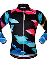cheap -21Grams Men's Long Sleeve Cycling Jacket Black Bike Jersey Top Mountain Bike MTB Road Bike Cycling UV Resistant Breathable Quick Dry Sports Clothing Apparel / Stretchy