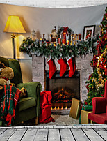 cheap -Christmas Santa Claus Holiday Party Wall Tapestry Art Decor Blanket Curtain Picnic Tablecloth Hanging Home Bedroom Living Room Dorm Decoration Fireplace Stocking Gift Polyester