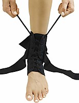 cheap -lace up ankle brace - men, women foot support stabilizer compression sleeve - sprained adjustable leg splint - sprain rolled immobilizer wrap guard for running, volleyball, basketball, soccer (s)
